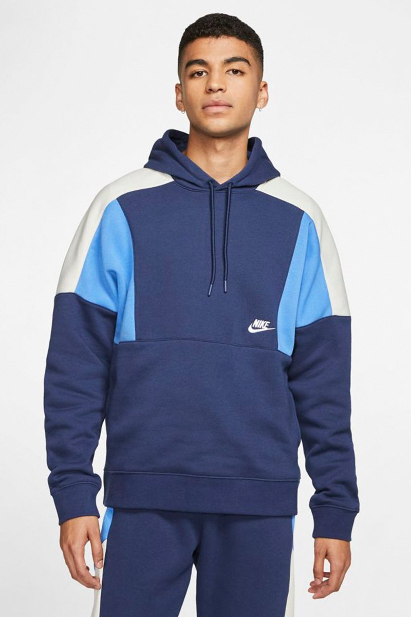 Nike - Dropped Shoulder Hoodie (Midnight Navy/ Pacific Blue/ White) CK4543-480