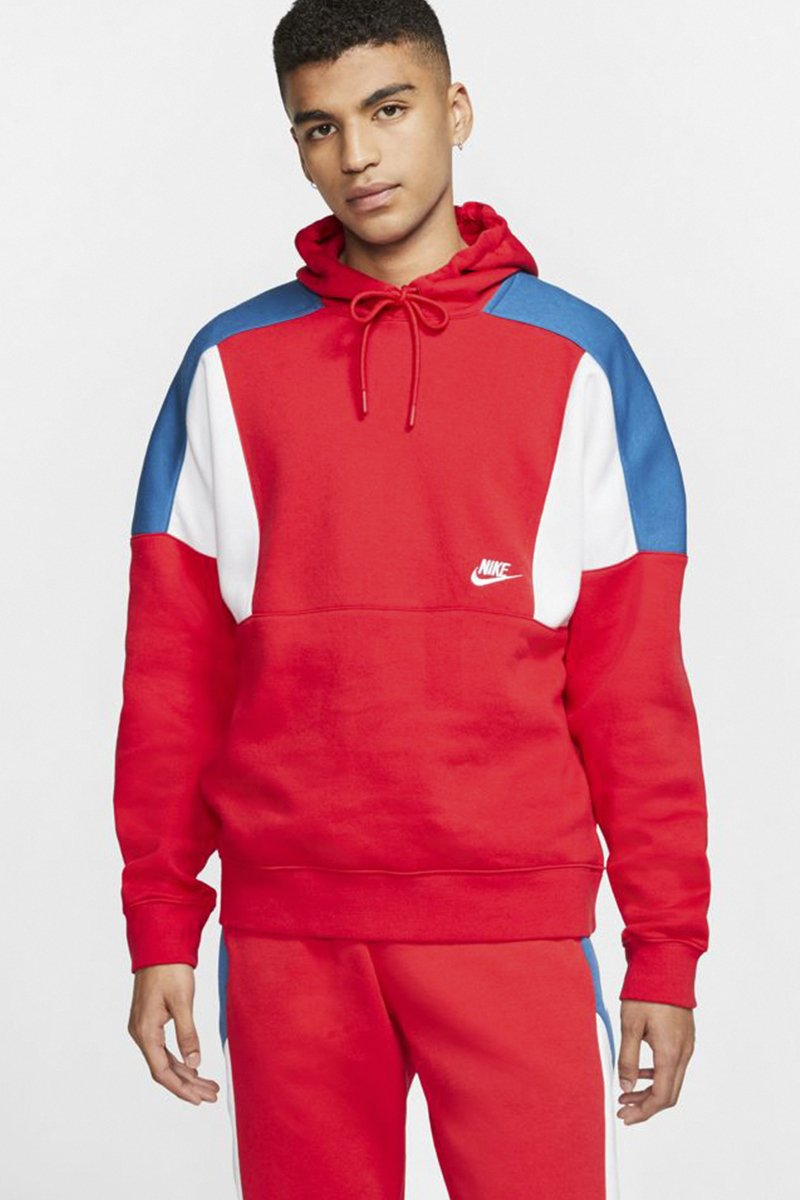 Nike - Dropped Shoulder Hoodie (University Red/ White/ White) CK4543-657