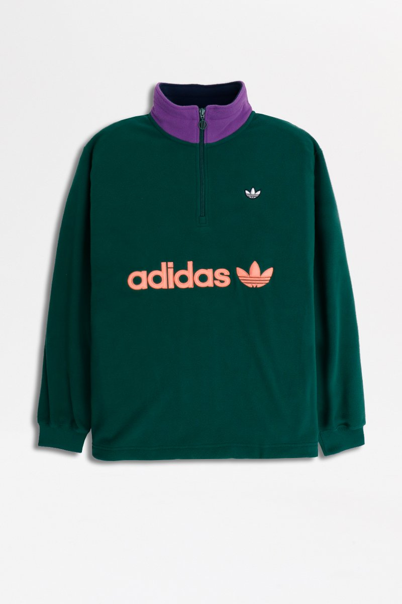 Adidas - Half Zip Polar Fleece (Black/ Green) EI6362
