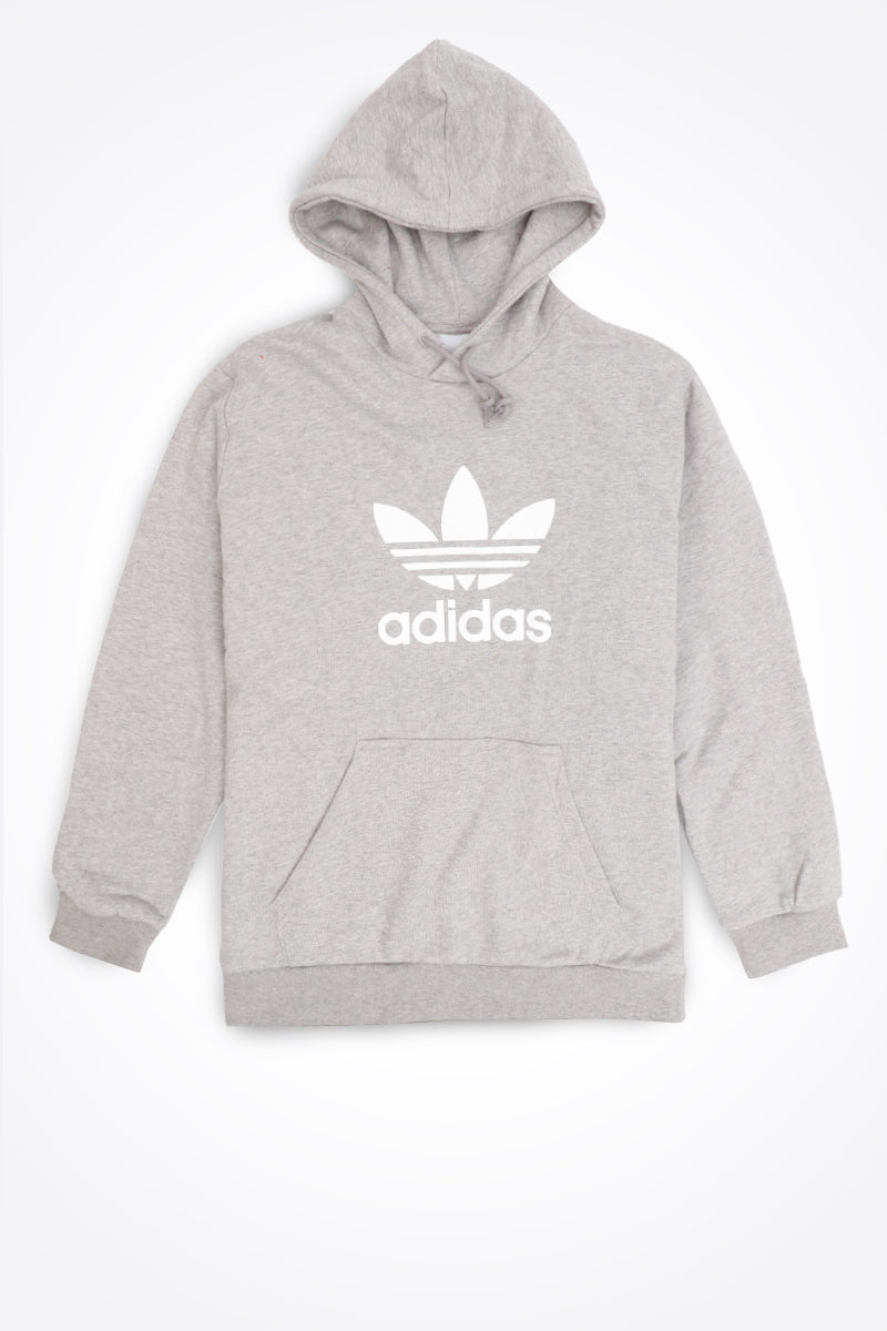 Adidas - Trefoil Hoodie Warm Up Hoodie (Medium Grey Heather) DT7963