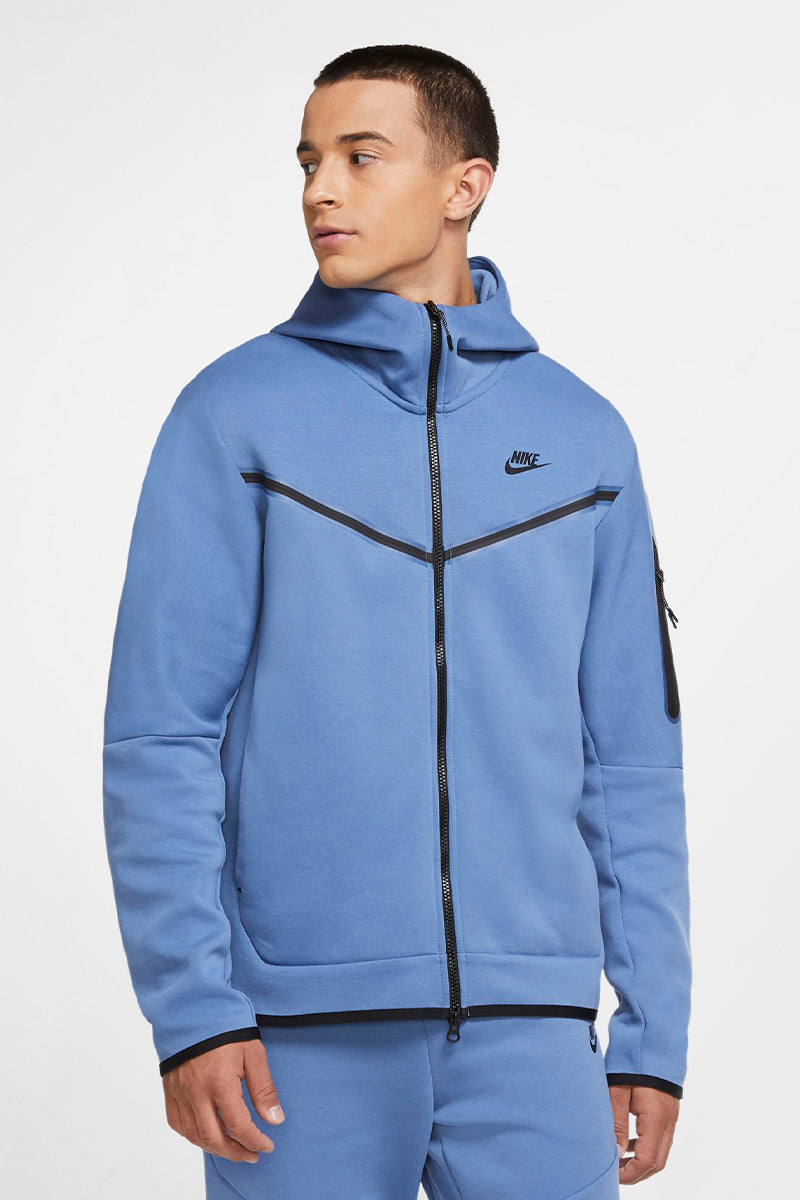Mode Nike - Tech Fleece Jacke in Himmelblau CU4489-442