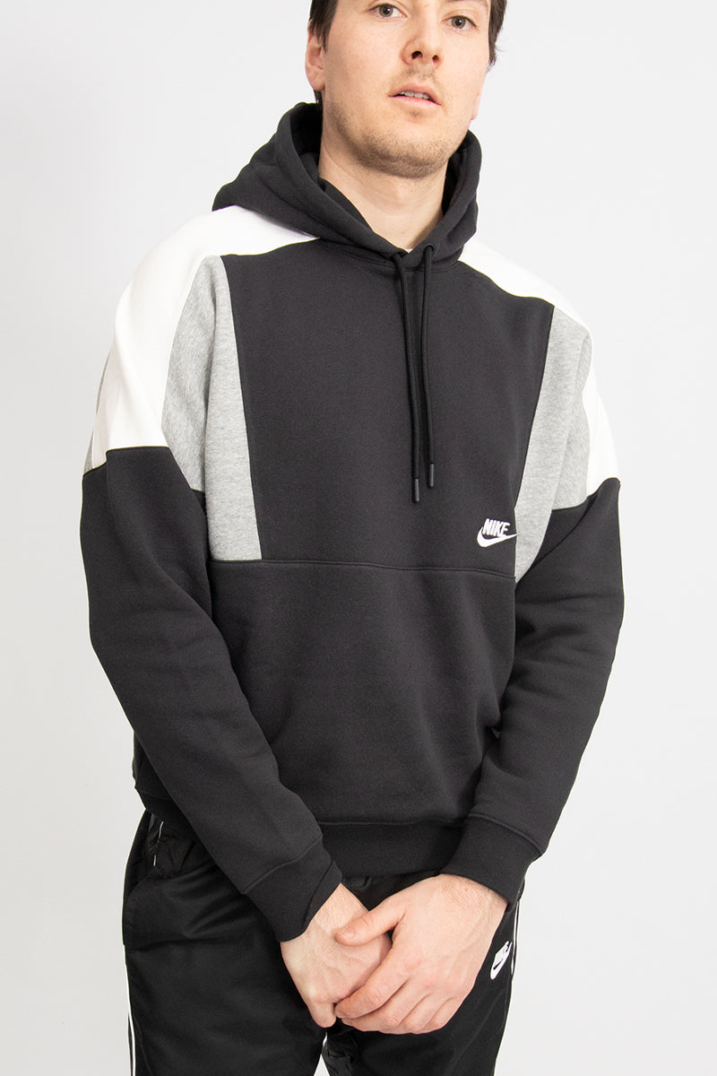 Nike - Dropped Shoulder Hoodie (Black/ DK Grey Heather/ Sail/ White) CK4543-010