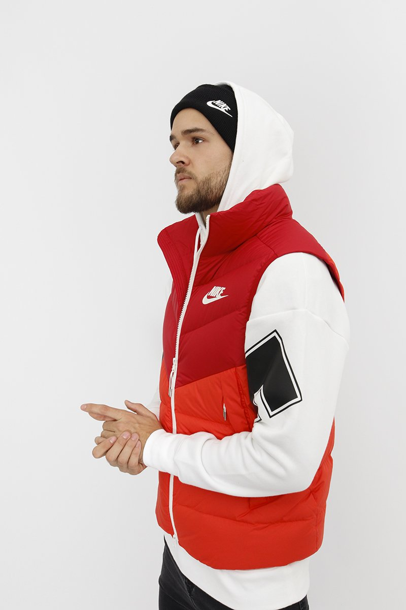 Nike - Down Fill Vest Windrunner(Gym Red/ Habanero Red/ Gym Red/ Sail) 928859-687