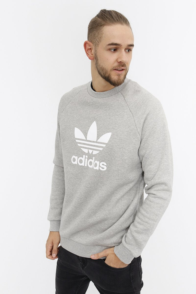 Adidas - Trefoil Warm Up Crewneck (Medium Grey Heather) CY4573