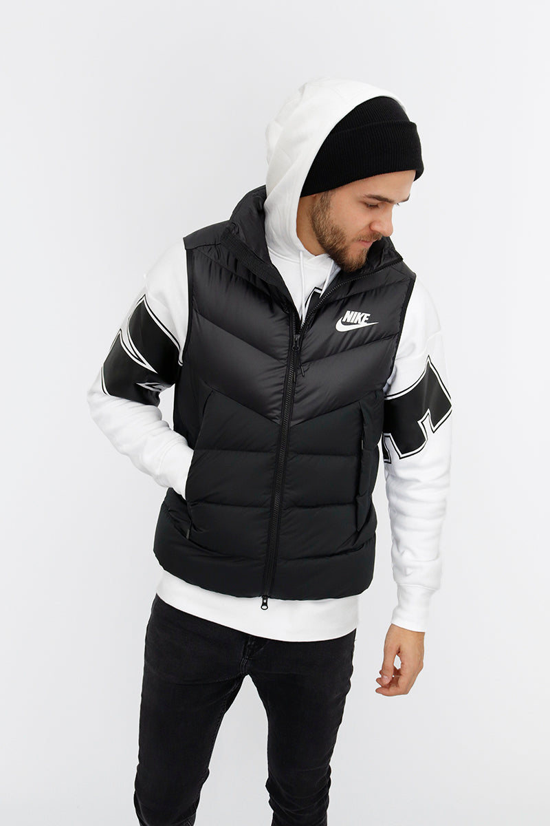 Nike - Down Fill Vest Windrunner(Black/ Black/ Black/ White) 928859-010
