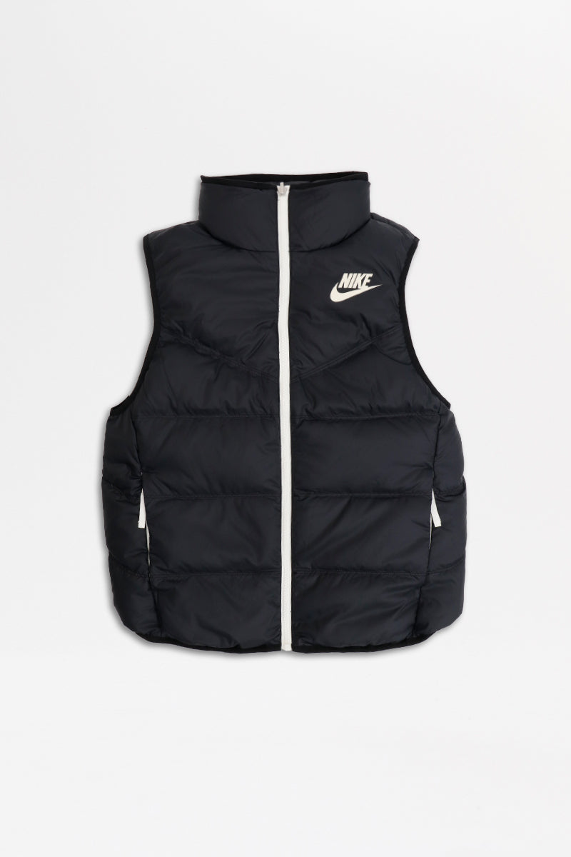Nike - Windrunner Down-Fill Reversible Vest (Black/ Black/ Sail) 939442-010