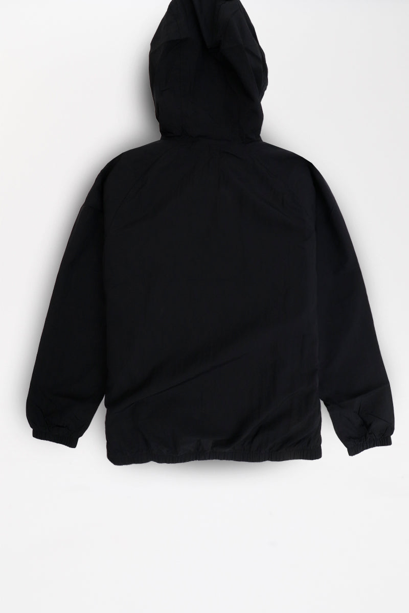 new lower prices sold worldwide amazing selection Nike - Sportswear Hooded Woven Anorak (Black/ Black/ White ...