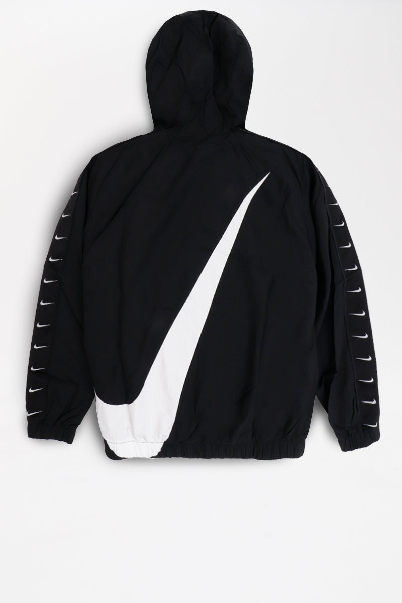 Nike - Sportswear Swoosh Jacket (Black/ White/ White) CD0419-010