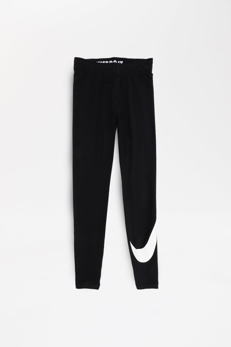 Nike - Sportswear Leggings A-See Swoosh Women (black/white) AR3509-011
