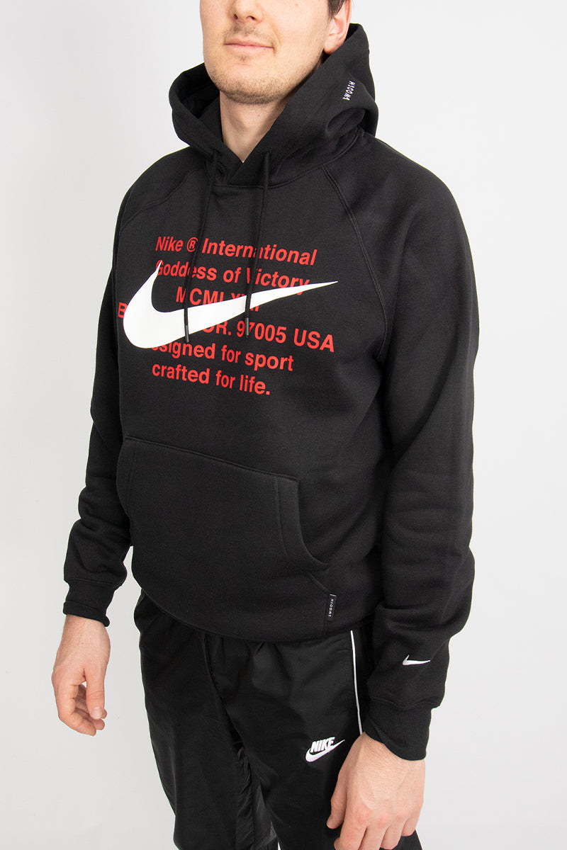Nike - Soft Fleece Pullover Hoodie (Black/ White) CJ4861-010