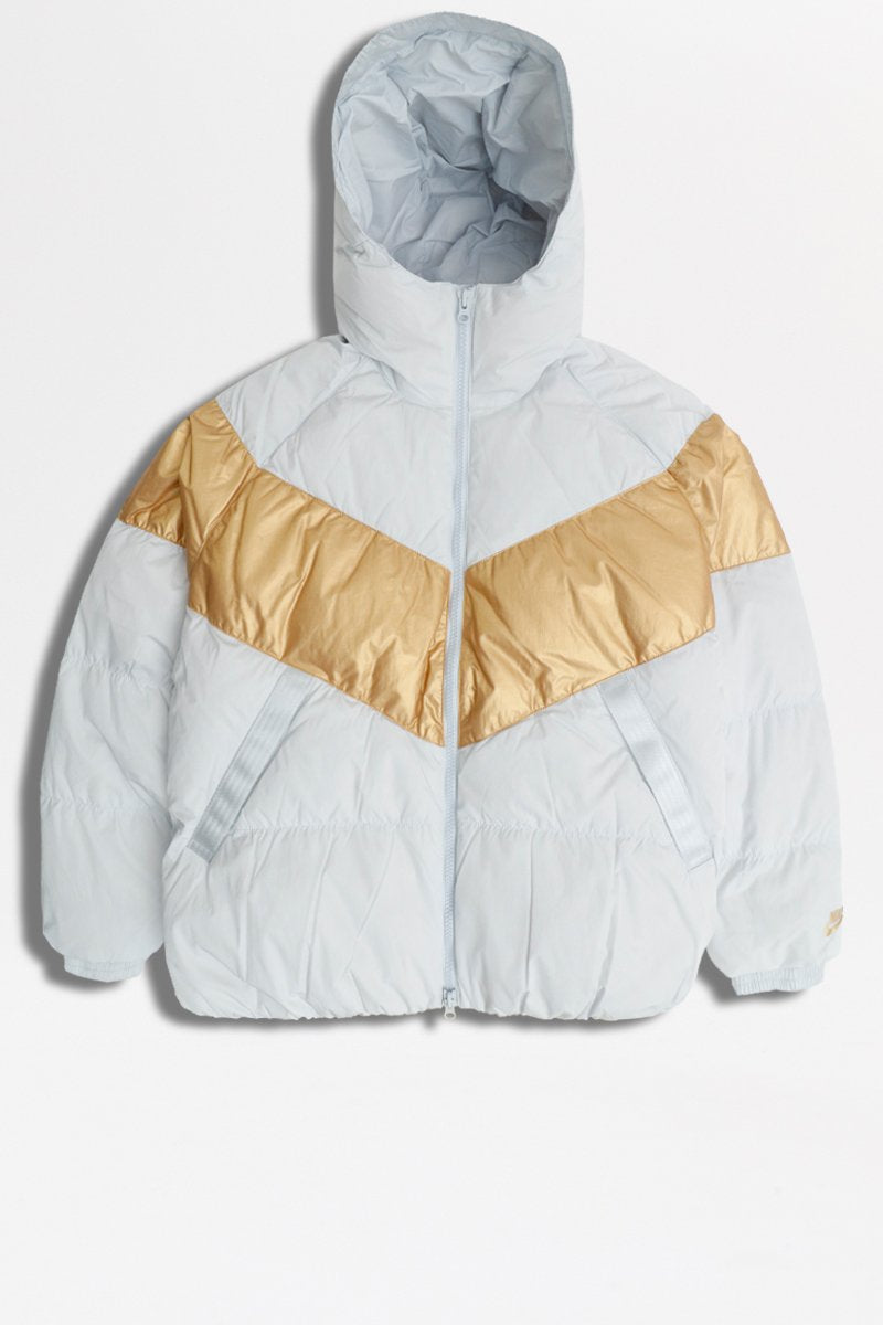 Nike - Down-Fill Jacket (Pure Platinum/ Metallic Gold) CT0489-043