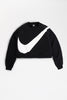 Nike - Sportswear Swoosh Fleece Crew Womens (Black/ White) BV3933-011