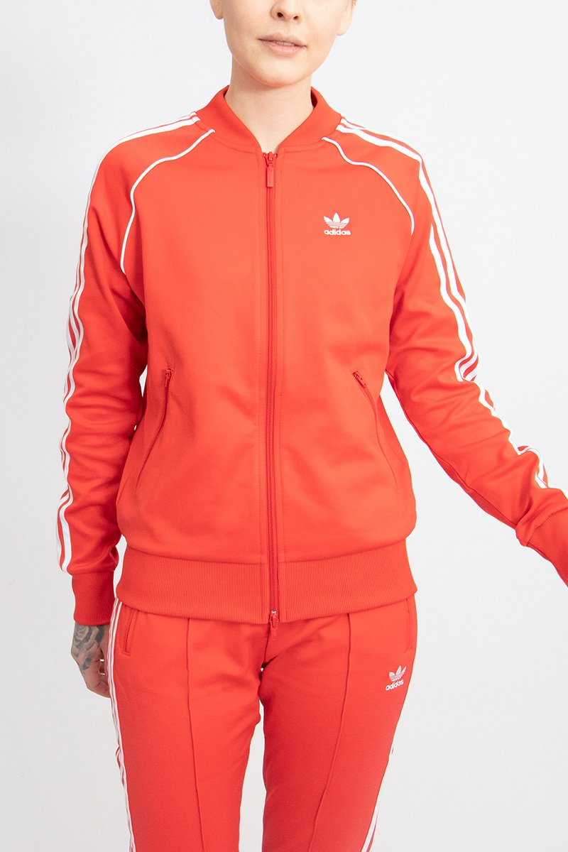 Adidas - SS Track Crewneck Women (Lusred/ White) FM3313