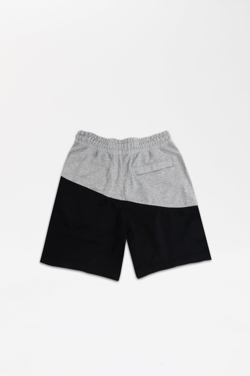 Nike - Sportswear Swoosh French Terry Shorts (Dark Grey Heather/ Black/ Black) BV5309-064