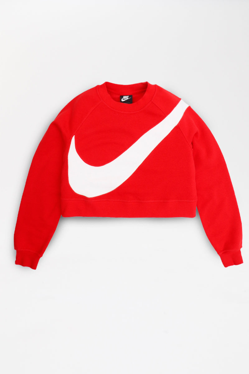 Nike - Sportswear Swoosh Fleece Crew Womens (University Red/ White) BV3933-657