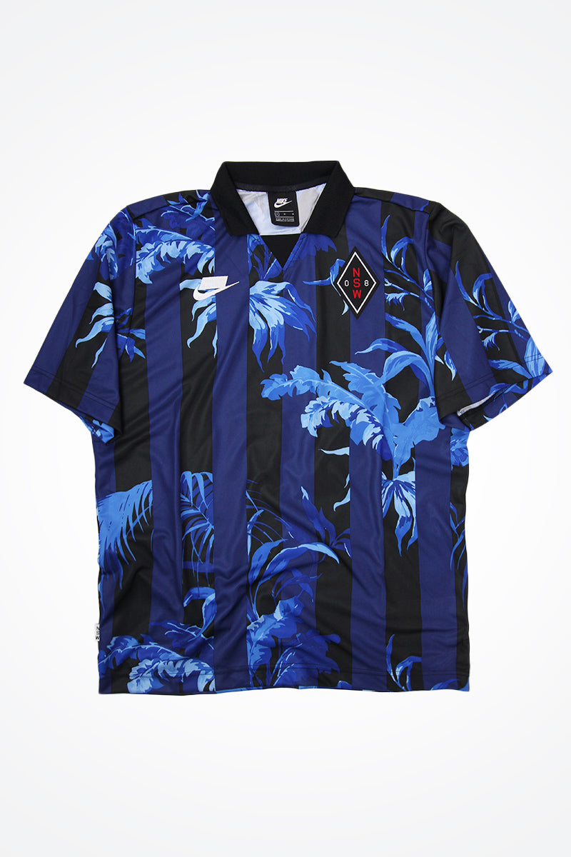 Nike - Sportswear NSW Floral Football T-Shirt (blue void/black/white) AR1620-492
