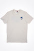 The North Face - Ridge T-Shirt in Vintageweiß mit Berg Motiv - T93L3H