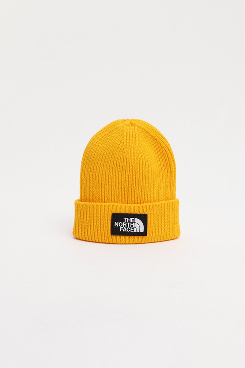 The North Face -Logo Box Cuffed Beanie (Yellow) T93FJX7