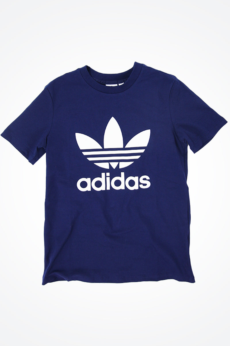 Adidas - Women's Trefoil T-Shirt with White Trefoil Logo (Dark Blue) DV2599