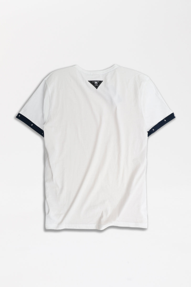 Cayler & Sons - La Clique Roll Up T-Shirt in Weiß