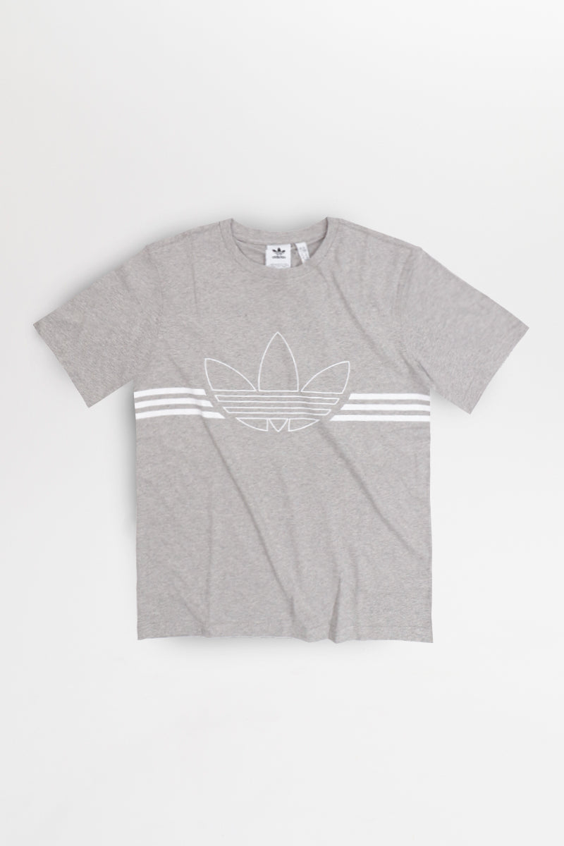 Adidas - Outline Trefoil T-Shirt (Medium Grey Heather) ED4699