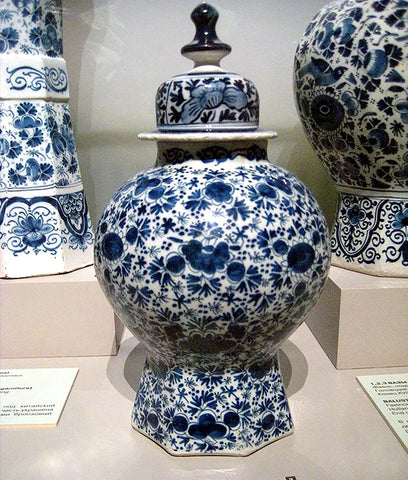17th century Delftware pottery, Pushkin Museum, Russia