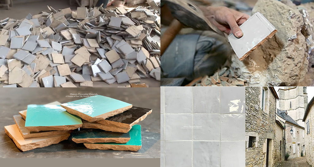 Zellige tiles or Zellige from Fez, Morocco or Fes, Morcocco are hand made glazed terra cotta tiles.  Zellige tiles are hand cut mosaics that are installed in kitchens for kichen backsplash, bathroom showers and walls, fireplace surrounds.  Zellige tiles are fired in kilns that create Zellige color variarions like Zellige white and Zellige Blanc de Fez.  Zellige marries with antique and aged French limestone floors, Belgian bluestone tiles, reclaimed French terra cotta tiles, antique cement tiles, French oak floors, antique Belgian bricks. Zellige tiles enhance Shaker styles interiors.  Zellige also works with Mid-Century Modern interiors, Belgian farmhouse interiors and minimalist interiors.  Interior designers choose Zellige and Zellige tile mosaics for their beautiful decorative wall tile patterns.
