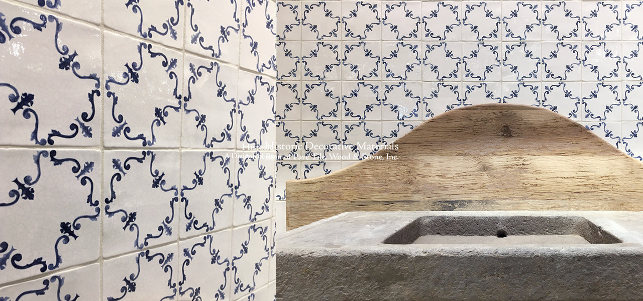 Italian Decorative Blue and White Wall Tiles for Kitchen ...