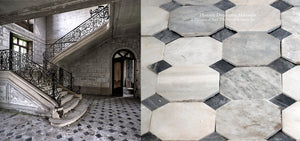 Reclaimed Italian Black and White Marble Flooring