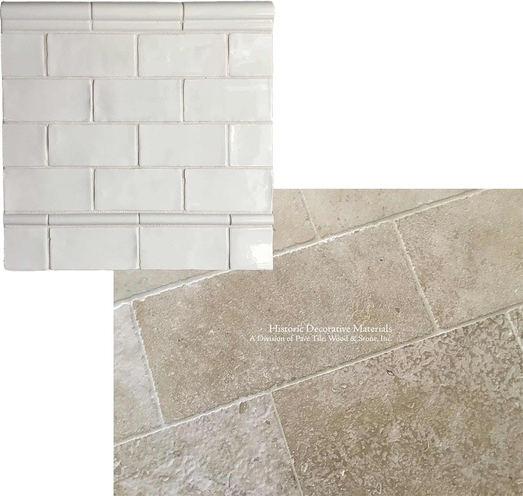 French Limestone Flooring and Subway Tile