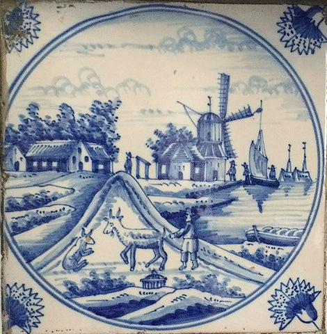 Antique Delft Tile & Why I Still Love Blue Dutch Delft Tile - Historic Decorative ...
