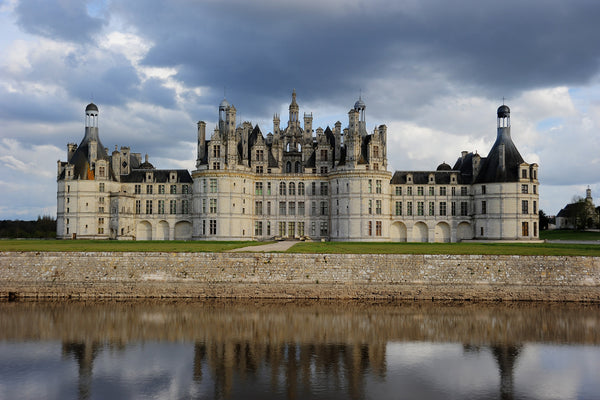 French Limestone at Chateau de Chambord in the Loire Valley in France