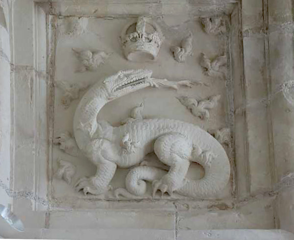French Limestone Ceiling at Chateau de Chambord