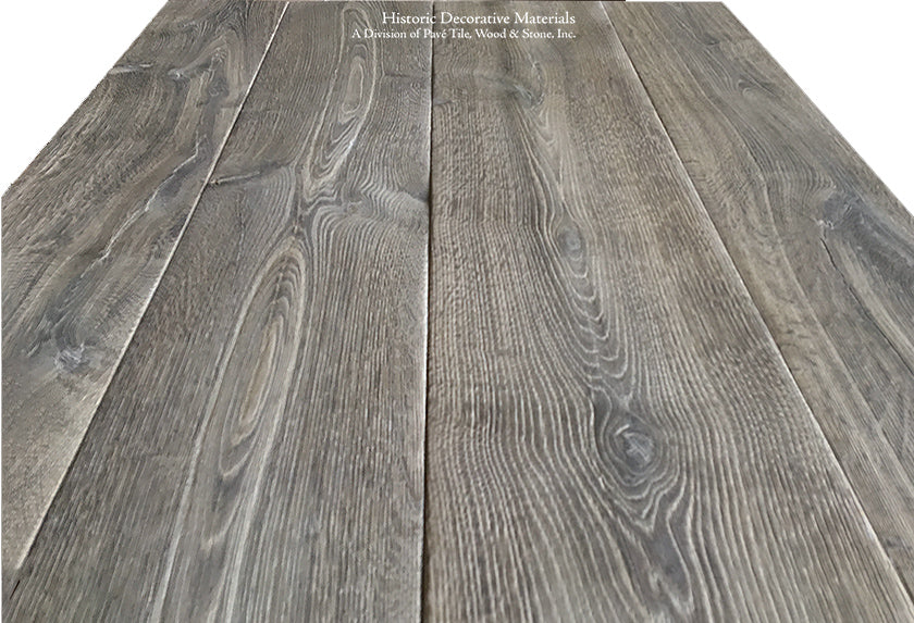 The Country House Collection: Kings of France 18th Century French Oak Flooring in Wide Plank Solid and Engineered: VINTAGE GREY