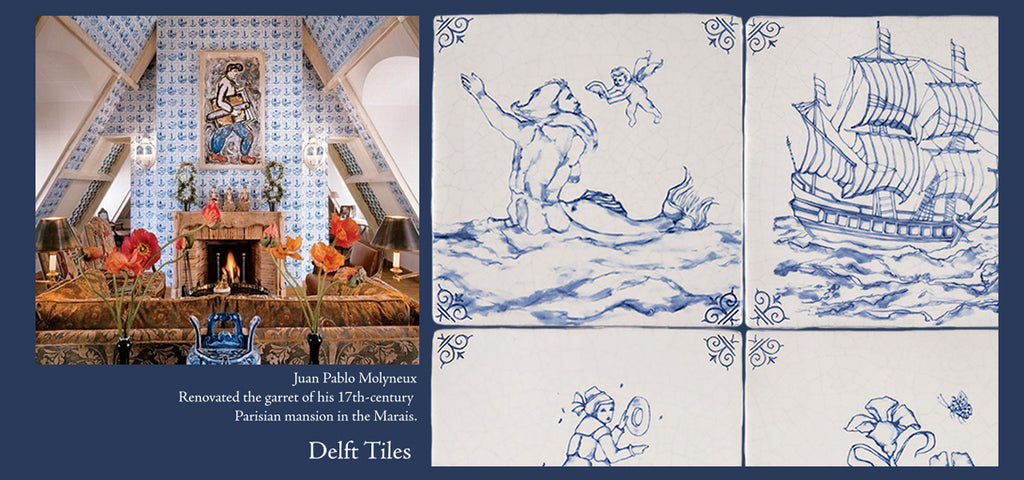Dutch Blue Antique Delft Tiles