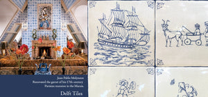 Antique Delft Tiles Dutch Blue Delft Tiles for Kitchen Back splash and Fireplace Surround