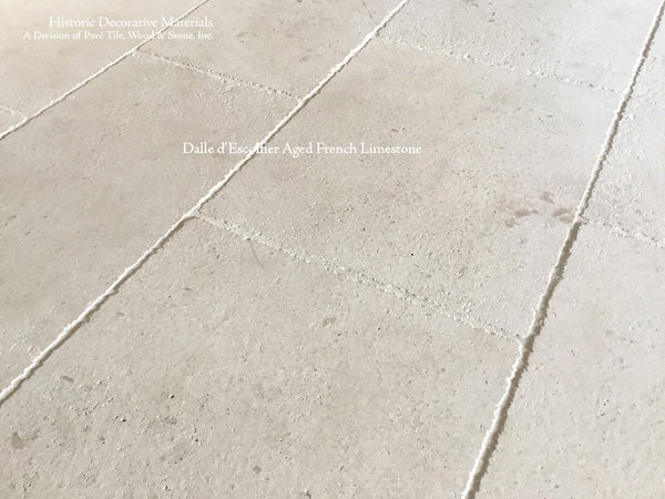 Aged French White Limestone Tiles