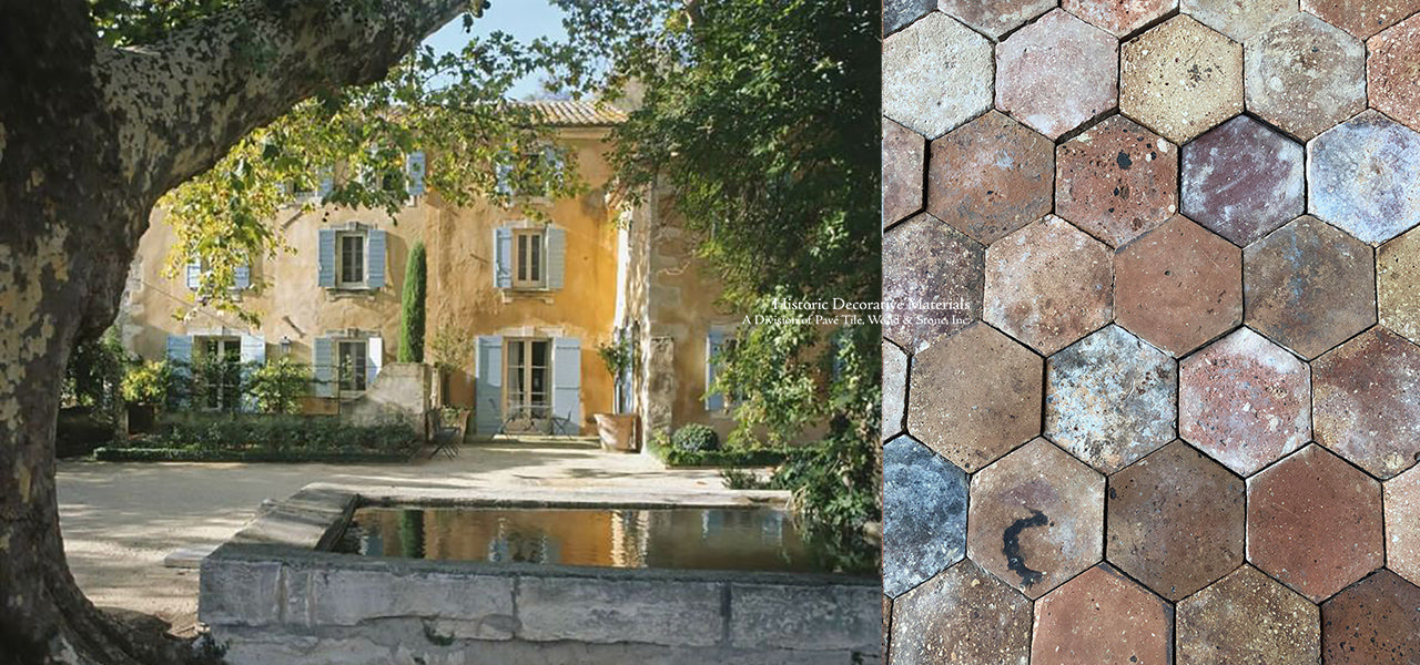 French Reclaimed Hexagon Terra Cotta Tile Lots
