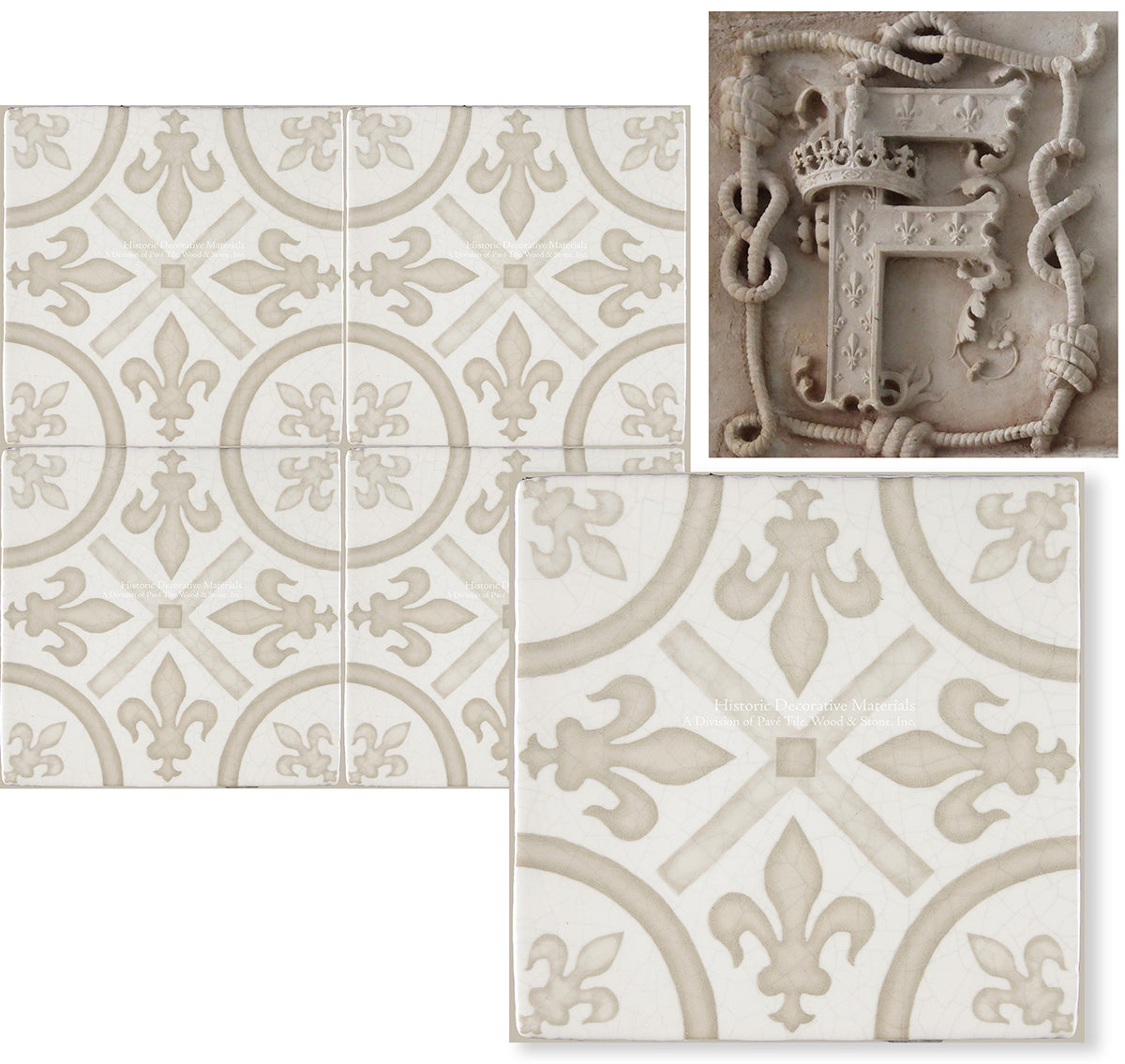 Historic Decorative Wall Tiles that are hand painted decorative wall tiles for kitchen backsplash, fireplace surround, bathroom wall tiles that interior designers choose for old world, farmhouse and luxury interiors