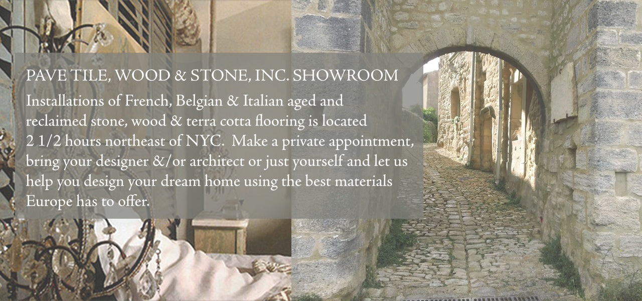 Interior designs choose for their interior designs reclaimed French limestone flooring, vintage and aged French limestone floors, French reclaimed terra cotta tile hexagons and hardwood French oak flooring for luxury interiors and farmhouse interior designs.