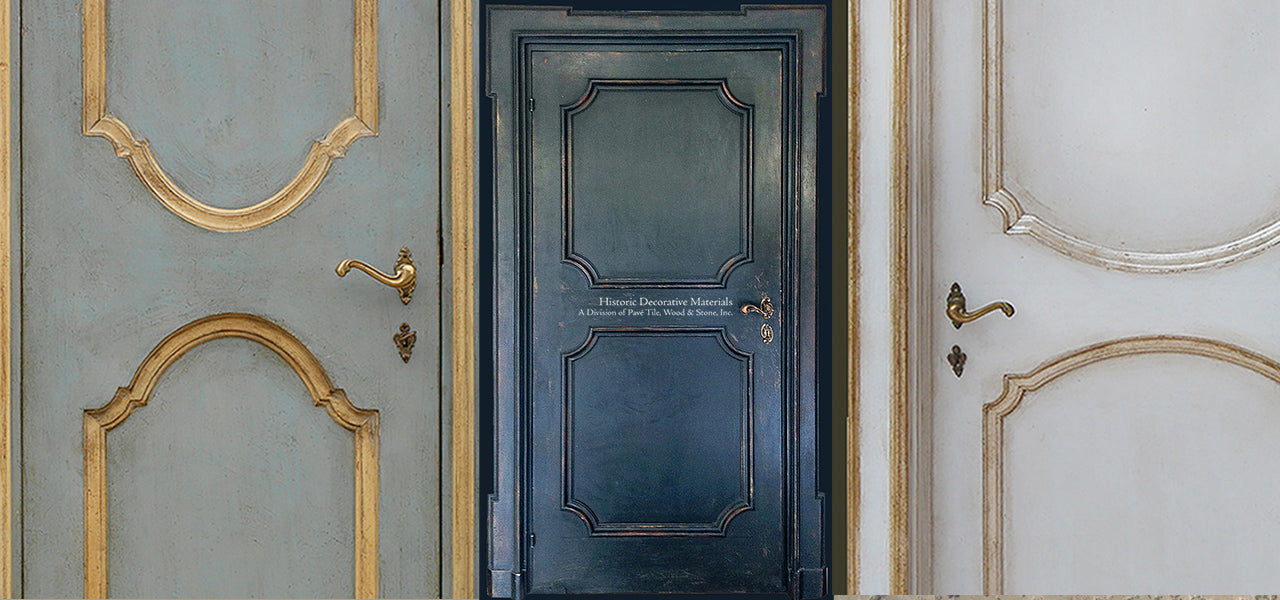 Interior Designers love interiors with hand painted Italian reclaimed and vintage hand painted doors