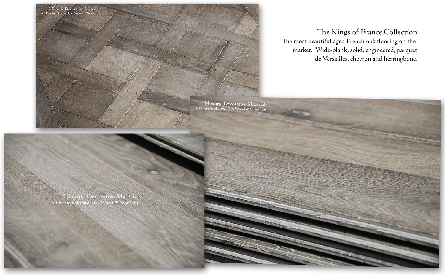 Interior designers choose for their interior designs reclaimed French limestone flooring, vintage and aged French limestone floors, French reclaimed terra cotta tile hexagons and hardwood French oak flooring for luxury interiors and farmhouse interior designs.