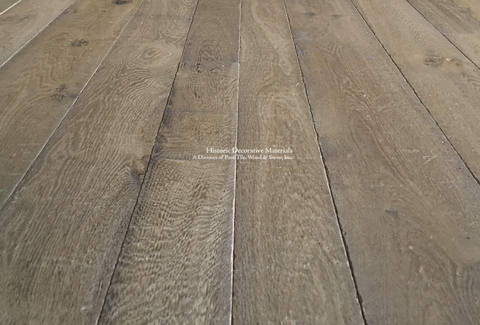 Kings of France 18th Century French Oak Flooring ressembles Reclaimed French Oak Flooring that marries with antique Belgian bluestone, French limestone floors, petite granite floors for classic English interiors, luxury, farmhouse and minimalist homes