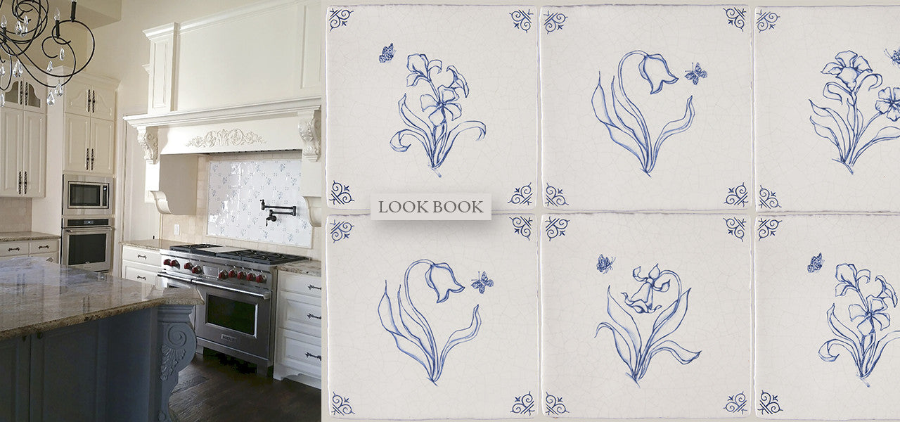 Vintage Wall Tile, Decorative Wall Tile, Delft Tiles, Dutch Blue Tiles, Blue and White Tiles for Kitchen Backspalsh, Fireplace Surround and Shower and Tub Surround