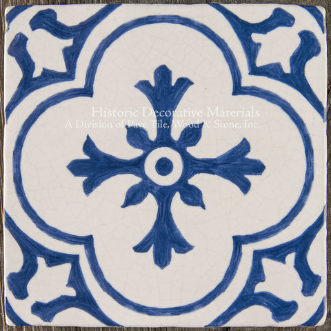 Blue and White Decorative Tiles Cuisine de Monet  Historic Decorative Materials
