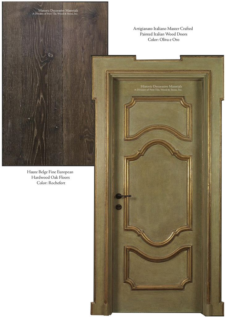 Hand Painted Italian Wood Doors Haute Belge Hardwood Oak Flooring