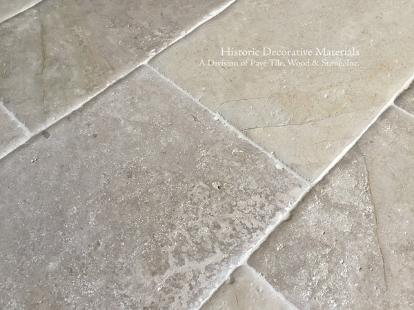 Aged French Limestone Tiles