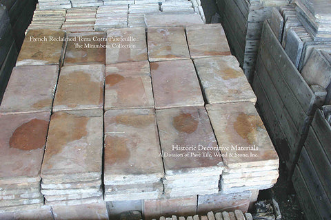French Reclaimed Terra Cotta Tile Parfeuille