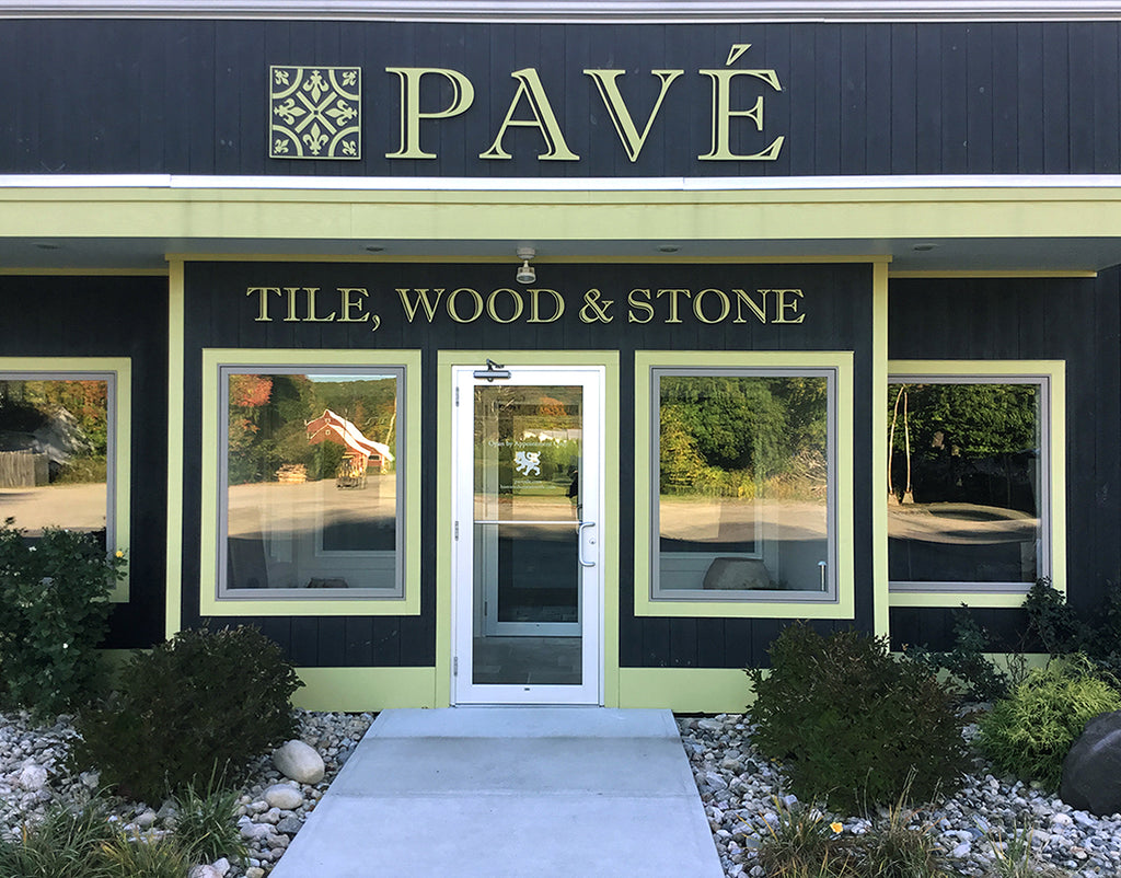 Pave Showroom to view reclaimed French oak flooring, French limestone floors, antique French limestone flooring, antique Belgian bluestone floors, Zellige tiles, Belgian bricks, Delft Tile, fireplace mantels, antique troughs