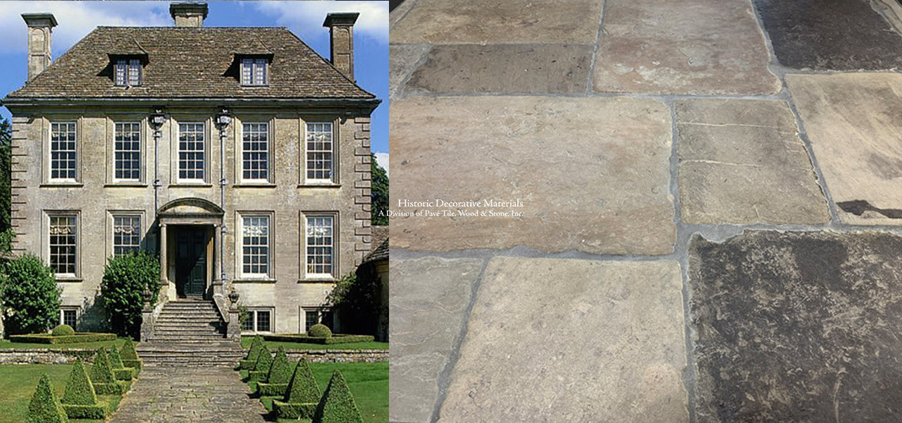 Reclaimed English York Limestone Stone Tiles